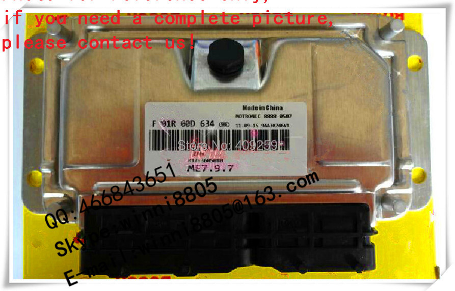 For Chery A3 hatchback / tiggo car engine computer board / car pc / Engnine Control Unit (ECU) / F01R00D634 / M12-3605010(China (Mainland))
