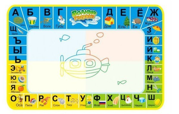 52*35 cm Russian letter mat export russian  Supply of children's toys, Russian water canvas learning blanket, WATER MAT