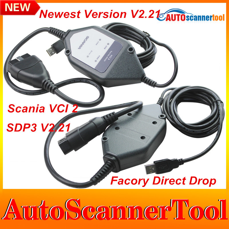 2015 Best Quality Scania VCI2 VCI 2 Metal SDP3 V2.21 Support Scania VCI2 Truck Diagnostic Tool Multi-Languages DHL Free Shipping(China (Mainland))