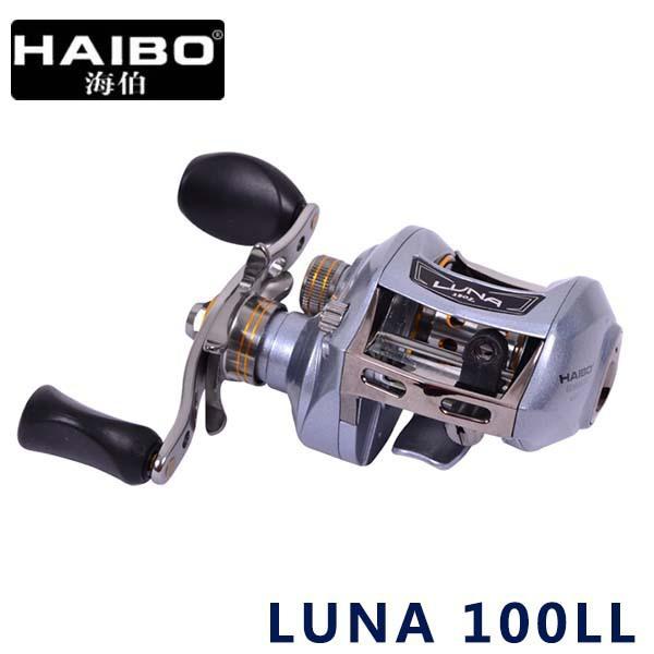 Haibo Brand LUNA 100LL Left hand Extreme Light 178g Bait Casting Fishing Reel 7BB 6.5:1 Trolling Raft Reel Baitcaster Fish Gear(China (Mainland))