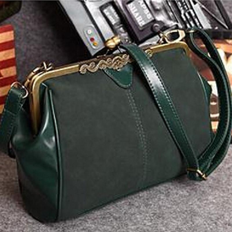 Hot Selling British Casual Fashion Women Matte Leather Handbags Retro Messenger Bags Vintage Shoulder Bag(China (Mainland))