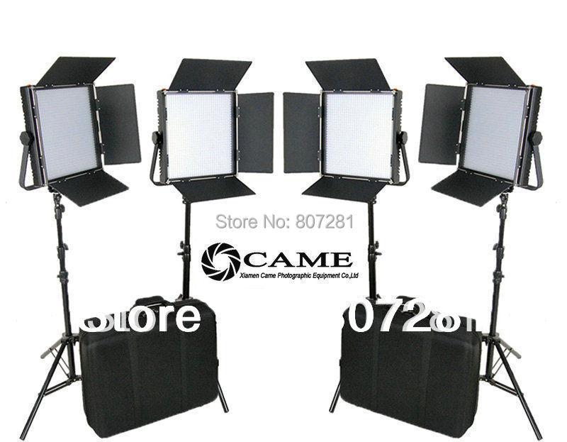 CAME-TV High CRI Bi-color 4 X 1024 LED Video Lights Studio TV Lighting +Free Bag(China (Mainland))