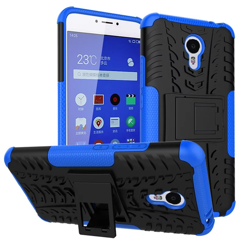 Fashion Heavy Duty Cover Touch Armor Case for MEIZU note3 M3 Note Phone Protective Shell Cases Back Covers With Stand Design(China (Mainland))