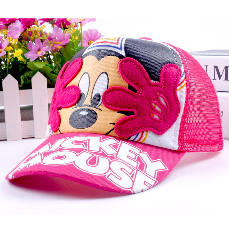 New Arrival Baby Hats for Boys & Girls Cartoon Mouse Baseball Caps Summer Kids Hat Casual Children Sun Caps for 2-6 Yesr HAT17(China (Mainland))