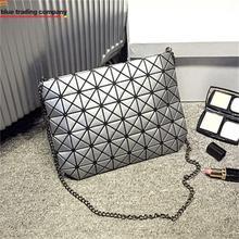 Japanese famous brand Fashion baobao geometry PU Leather shoulder shopping bag handbag tote purse