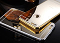 Luxury 5s Case For iPhone 5 5s se Ultra thin Mirror Glass Back Cover Metal Aluminum