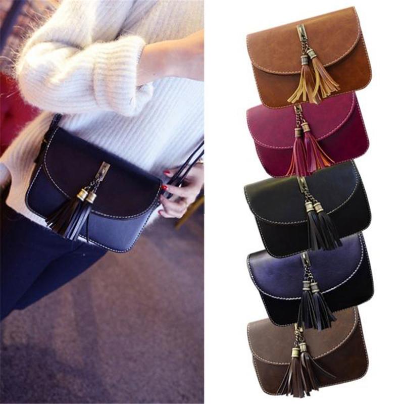 2015 Tassel Women Girl Handbag Shoulder Bags Totes Messenger Bag Fashion Design Purse Leather Gift Free Shipping N774<br><br>Aliexpress