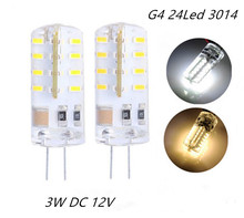 Buy 20PCS G4 LED Lamp DC 12V SMD3014 Silicone 3W Replacement 20W Halogen Bulb 360 Beam Angle Lighting Spotlight for $12.90 in AliExpress store