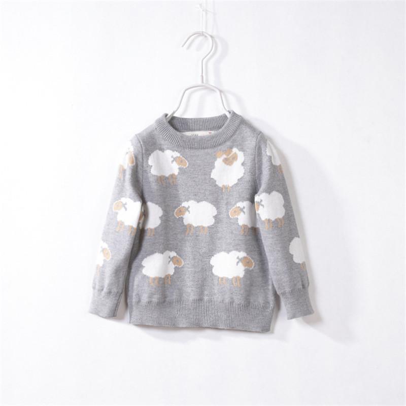 Kids winter sweaters girls Cotton knitted unisex cartoon pullovers Fashion girls cardigan childrens sweaters(China (Mainland))