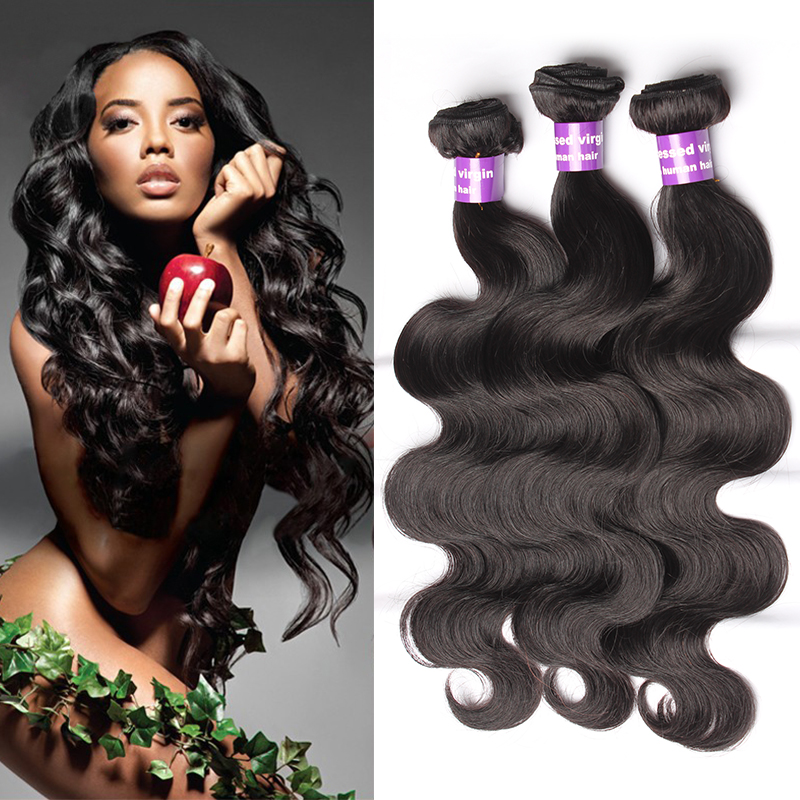 Unprocessed Malaysian Virgin Hair Body Wave 100% Human Hair Weave Wavy 3Pcs/Lot Grade 6A Malaysian Body Wave Rosa Hair Products