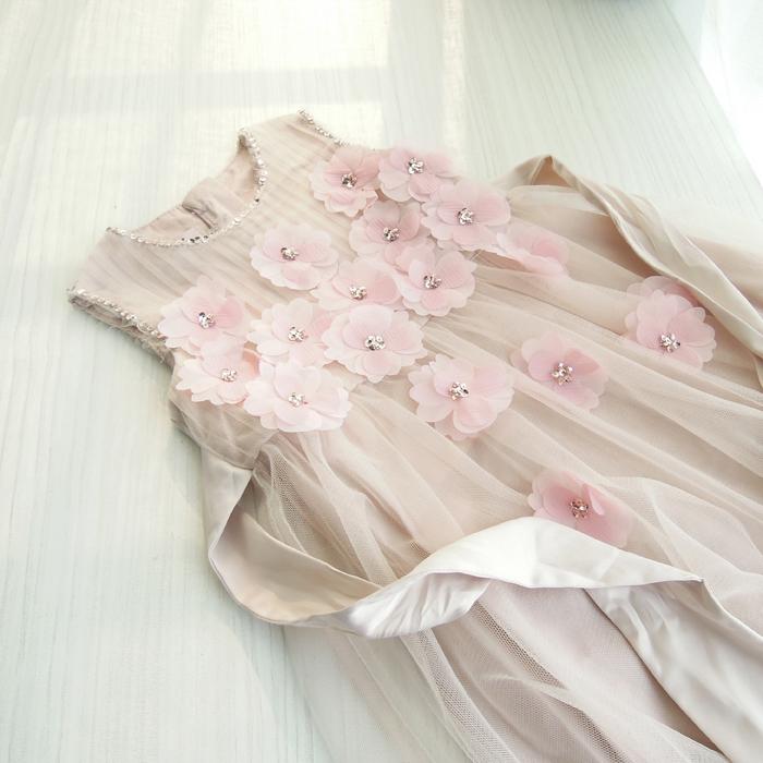 wlmonsoon Three-dimensional decals princess dress Girls Childrens wear vest dresses  wholesale<br><br>Aliexpress