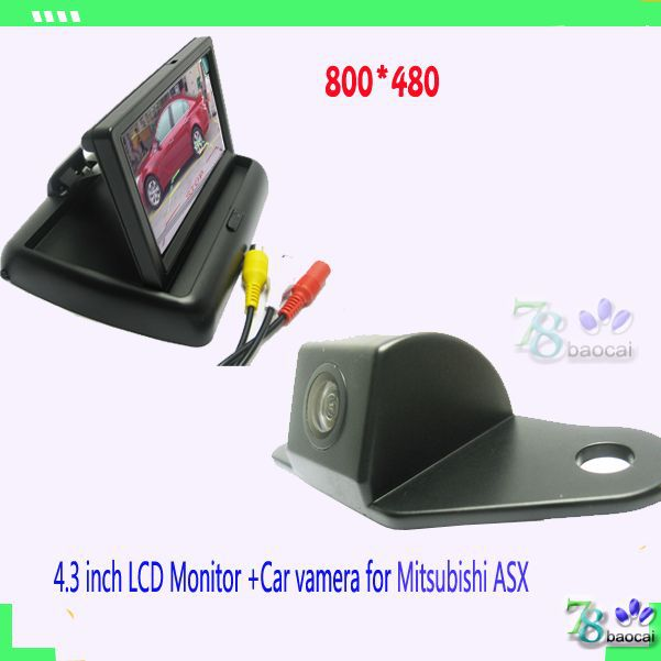 "2in1 car camera rear wireless Car camera for Mitsubishi ASX back and 4.3"" LCD car monitor and parking backup rearview CCD camera(China (Mainland))"