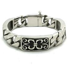 Mens Boys 316L Stainless Steel Cool Vintage Silver Party Bracelet Newest Hot Sale