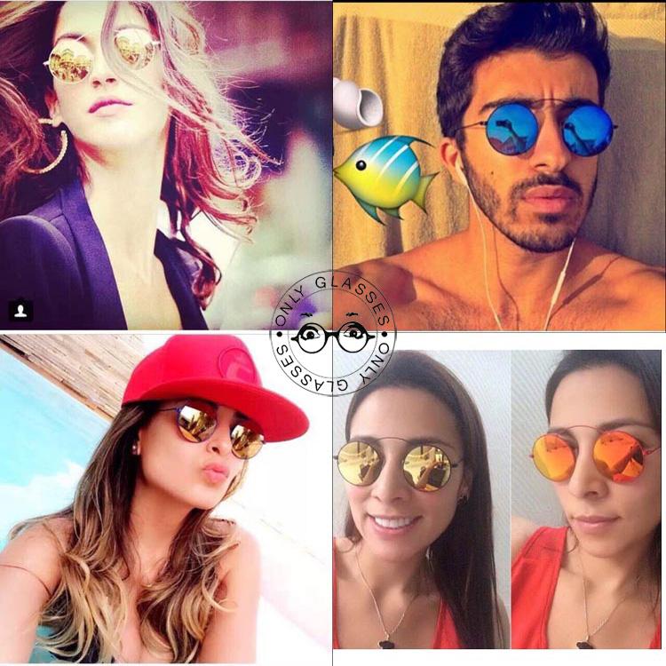 Memory steel round sunglasses outdoor goggle Fashion men women sun glasses mirror lens lunettes oculos de sol feminino - Only Glasses store