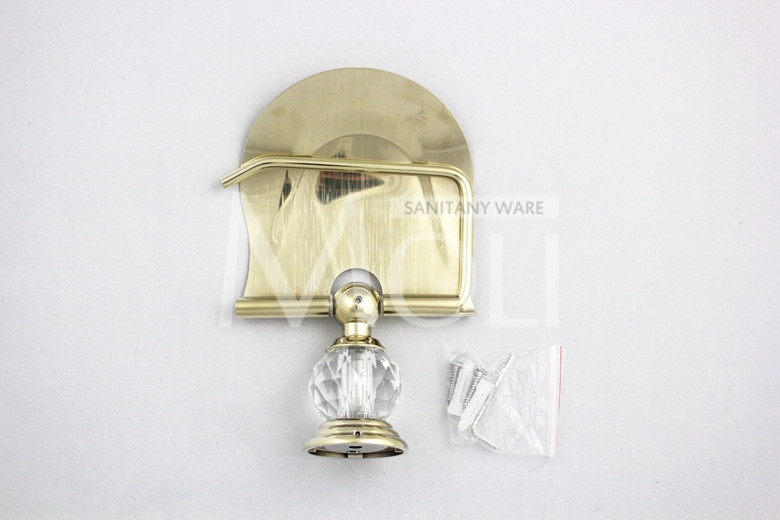 HTB1mL0MKpXXXXa3XpXXq6xXFXXX7 - Gold finish crystal decoration metal bathroom accessories set robe hook cup brush holder towel holders soap dish paper rack