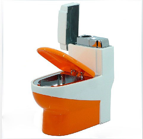 Novelty, creativity toilet refillable lighters ashtrays,cigarette isqueiro gas,Gadgets briquet(China (Mainland))