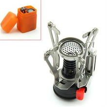Outdoor Picnic Burners Stove Camping Gas Stove Portable Folding Mini Burners Electronic Lgnition New Super Lightweight With Box(China (Mainland))