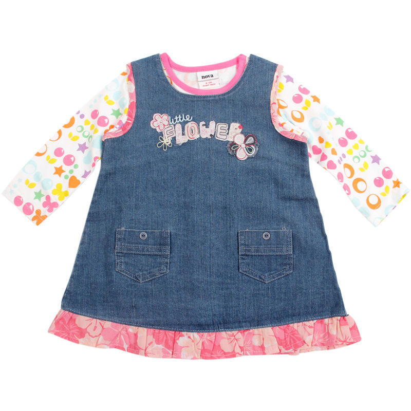 kid dresses for girls 12 Months-5t years baby girls fall dresses,children's clothes,kid party dresses birthday long sleeve(China (Mainland))