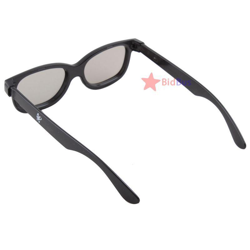 Bidbus Fast Black Polarized 3D Glasses Theatre Circular Movie DVD LCD Video Game(China (Mainland))