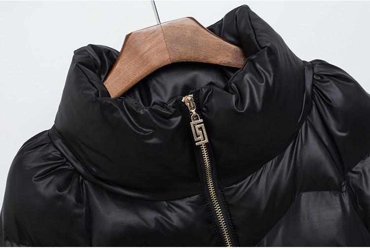 Скидки на Хлопок-мягкие Одежды Женщина Пальто 2017 Зима Новый Средней Длины Тонкий Pure color Высокий воротник Теплый Высокого класса женщины Хлопок Пальто G1969