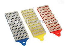 2 Sets Of 3pc Large Diamond Sharpening Hone Set Stone Whetstone Block Kitchen Knife Free Shipping(China (Mainland))