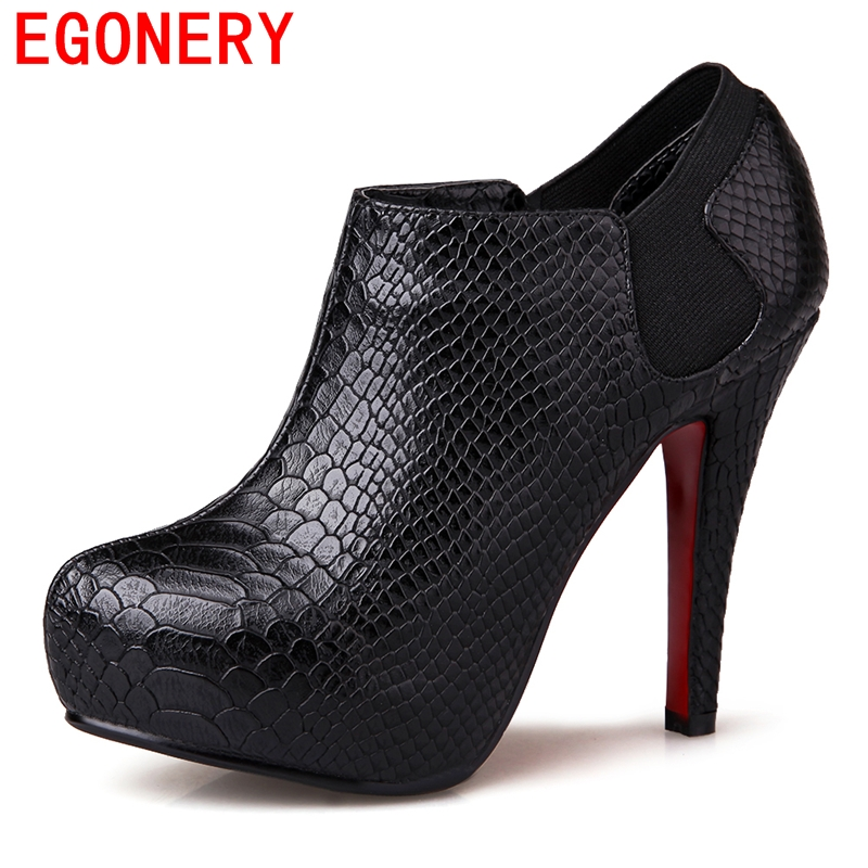 sexy fashion platform women pumps 2016 new arrival basic PU Embossed Leather spring shoes classical round toe thin heels shoes<br><br>Aliexpress