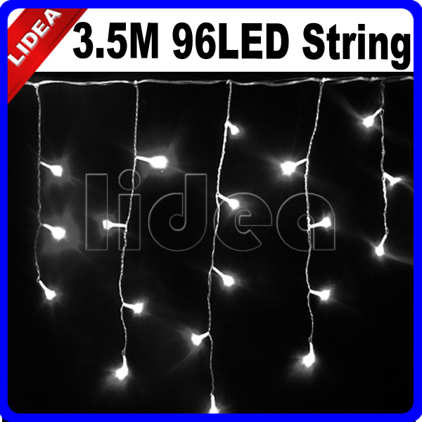 3.5M 96 LED 9 Colors Wedding Navidad Christmas Garland String Icicle Outdoor Decoration Curtain Fairy New Year Light EMS C-15(China (Mainland))
