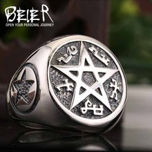 new 925 silver Star ring for men finger rings rock punk vintage jewelry gift top quality health (China (Mainland))