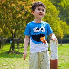 Retail Cotton Boys T shirts Summer Short Sleeve Childrens Kids Chothes Blouse Shirts