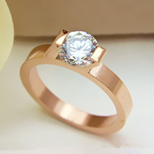1 Carat Pure Gold 18K Lovely Style Consummate Real Moissanite Engagement Ring For Woman Gorgeous Birthday Gift For Daughter(China (Mainland))