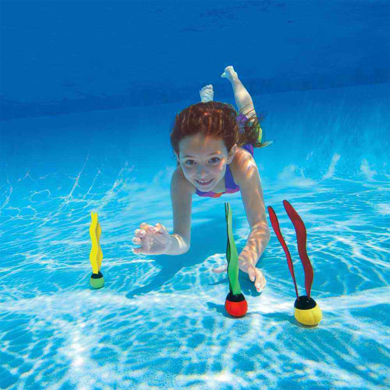 2015 Summer Kids Water Toys Activity Diving Underwater Seagrasses 3pcs/lot 3 Colors Non-toxic Intex Brand Swimming Pool Toys(China (Mainland))