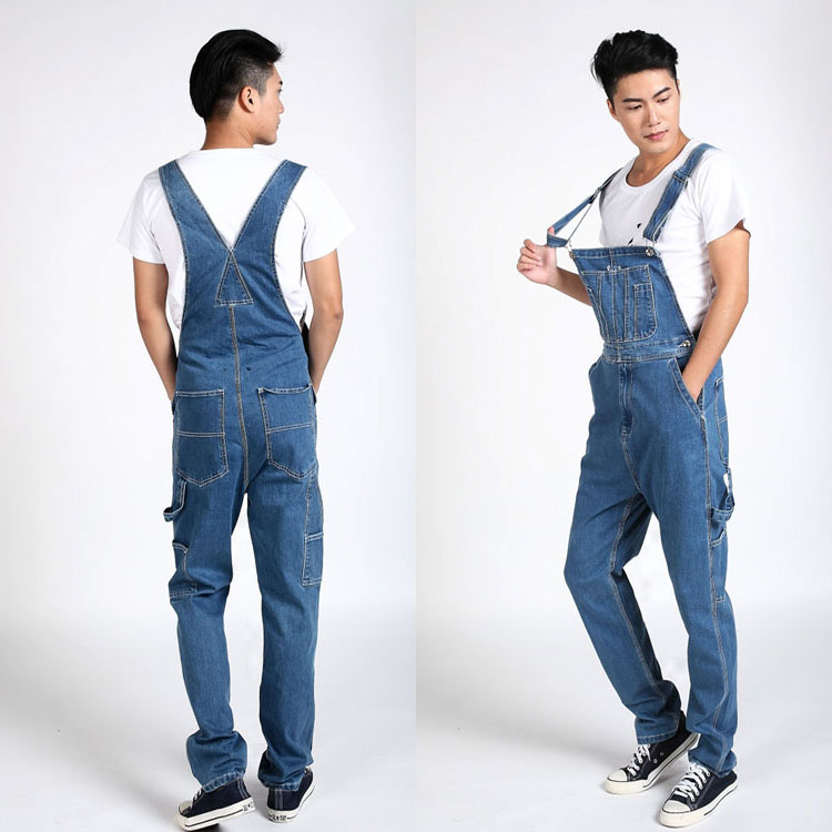 Hot 2015 Mens loose Plus Size Overalls Jeans Large Size Denim Bib Cargo pants casual Pocket Jumpsuits Male Free shipping<br><br>Aliexpress