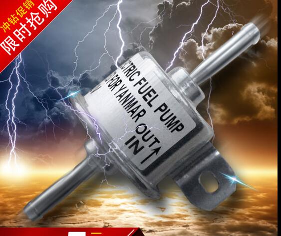 universal Flow 110L/H Outside diameter 8mm 24v electric fuel pump BLACK plug free shipping(China (Mainland))