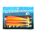Hot Sell 30 Pcs 140mm 13g Soft Bait Fish Fishing Lure Shad 3D Eyes Soft Silicone