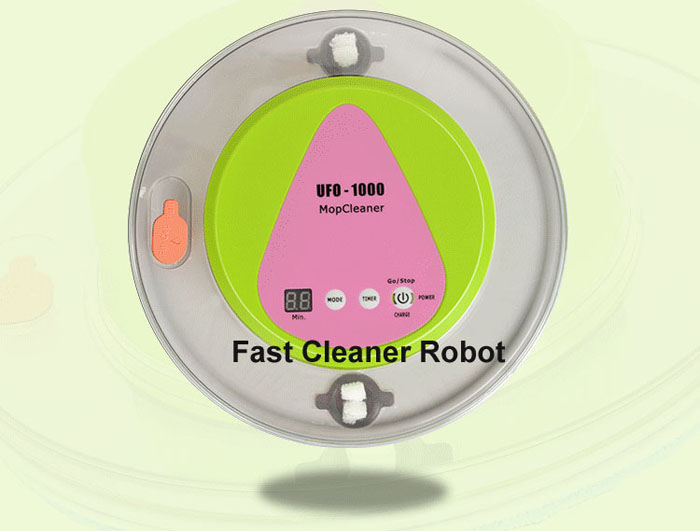 Free Shipping to All the World 2016 Newest UFO design Wet and Dry Mop Cleaner Robot With 247ml Big Water Tank(China (Mainland))