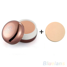 Blemish Hide BB Cream Beauty Makeup Cosmetic Foundation Concealer + Powder Puff