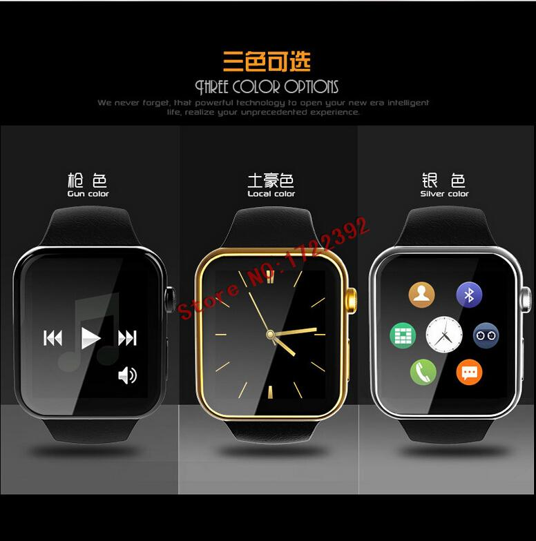 2016 new fashion Smart Watch Y6 touchscreen Bluetooth SIM card TF mp3 mp4 compatible with apple Huawei and Android Phones(China (Mainland))