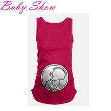 New Nursing Tank Top Fashion Cartoon Baby Printing Maternity Vest Soft Cotton Nursing Shirts 2016 Summer Maternity Cothes XXL T2(China (Mainland))