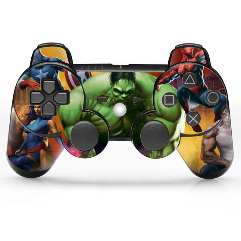 Game Accessories Cover Decal for Playstation 3 controller 2 Pieces Skin Sticker for PS3 & PS3 Slim Controller The Hulk(China (Mainland))