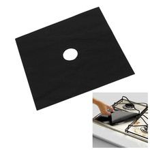 4Pcs Foil Gas Hob Protector Liner Reusable Non Stick Dishwasher Easy Clean Black New Arrival(China (Mainland))