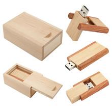 Wooden clip usb flash drive natural wood with box pendrives 4gb 8gb 16gb 32gb memory stick usb creativo Logo Customize(China (Mainland))