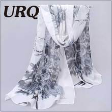 Long Chiffon Silk scarves Designer Woman Fashion New Design Peacock Flower print scarves P5A16280(China (Mainland))