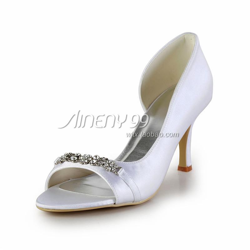aineny99 bridal shoes wedding shoes white open toe single