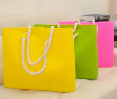 Women's handbag casual candy silicone jelly bag High quality brand Summer style beach bags shopping bag string totes drop ship(China (Mainland))
