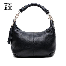 Buy Soft Genuine Leather Cowhide Women Shoulder Bags Real Skin Woman Crossbody Business Work Messenger Casual Tote Handbags 0101 for $33.24 in AliExpress store