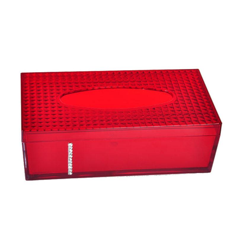 Luxury Porcelain Plastic Tissue Box with Diamond Delicate Paper Holder Kitchen Dining Room Car Napkin Storage(China (Mainland))