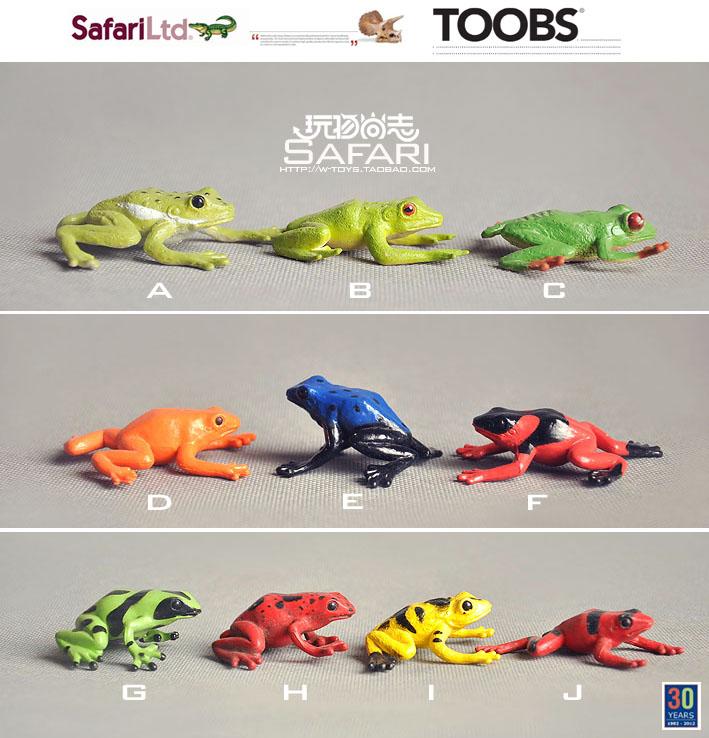 `Animal model toy Safari genuine bulk [ MINI- frog reptile model 10 models optional ](China (Mainland))