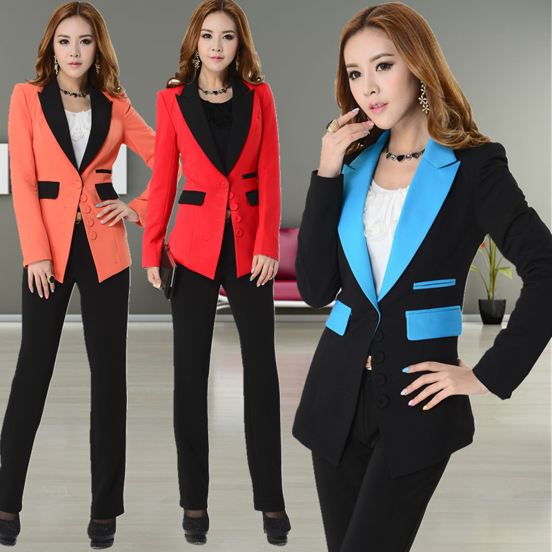 new 2015 spring and autumn formal pant suits for women