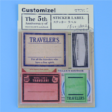 15 Pcs / Pack Vintage Travel Stamp Paper Notebook Decorative Sticker Diary Stickers # Midori Traveler's Notebook(China (Mainland))