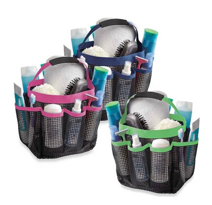 Free Shipping 2014 Hot Sale High Quality Mesh Shower Caddy ,Mesh Shower Tote,Bath Caddy,hand bath organizer(China (Mainland))